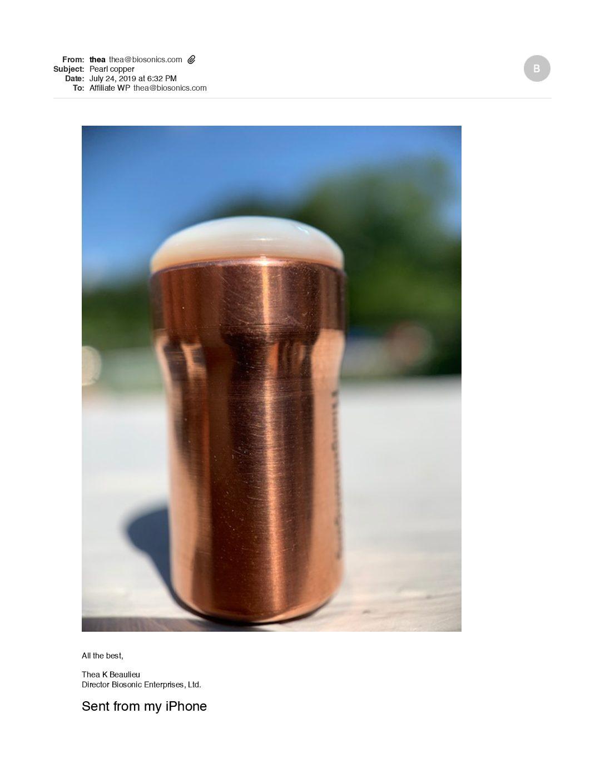 Copper Pearl Gem foot 15mm  New !!