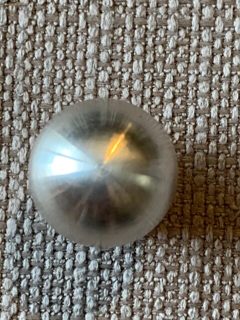 Silver plated solid gem foot 15mm New!