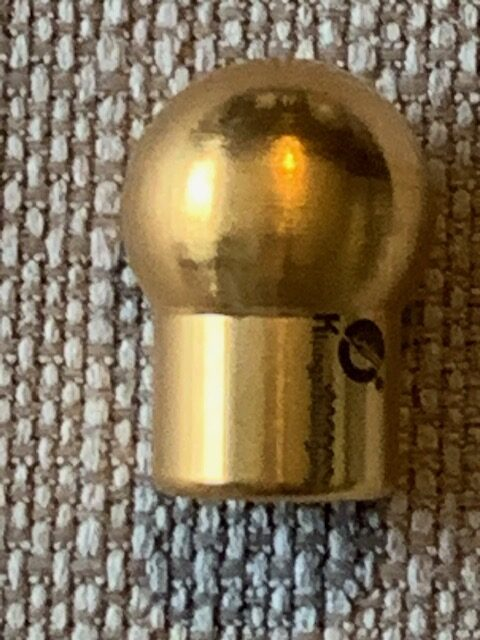 Gold plated 15mm gem foot New !